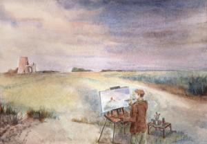 Artist at Work St Benet's Abbey Norfolk